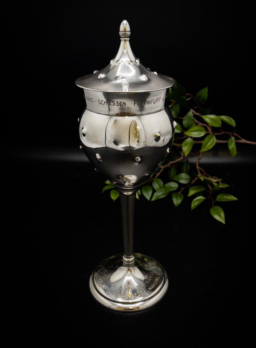 Coupe Couverte Art Nouveau en argent massif