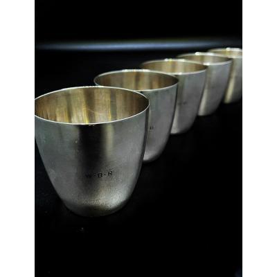 Ensemble De 5 Timbales De Chasse De La Maison Tiffany