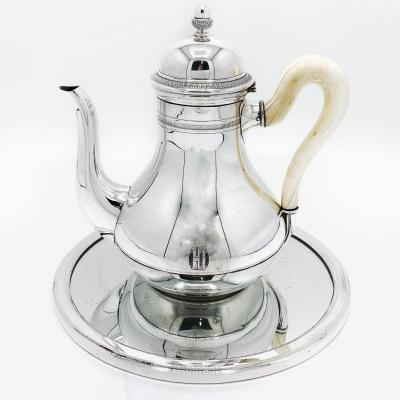 A Silver Teapot In Solid Silver 835/1000