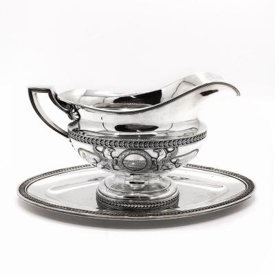 Gravy Boat In Sterling Silver By The Silversmith Rudolphe Beunke