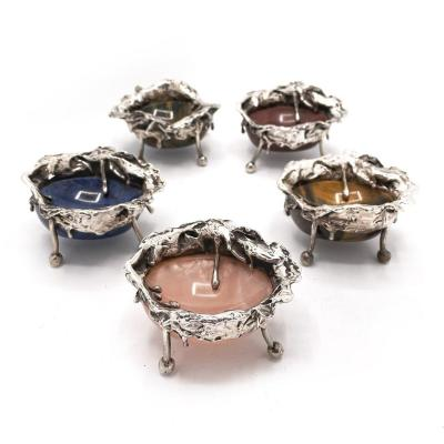 Superb Set Of 5 Salt And Pepper Shakers In 950/1000 Silver And Fine Stones