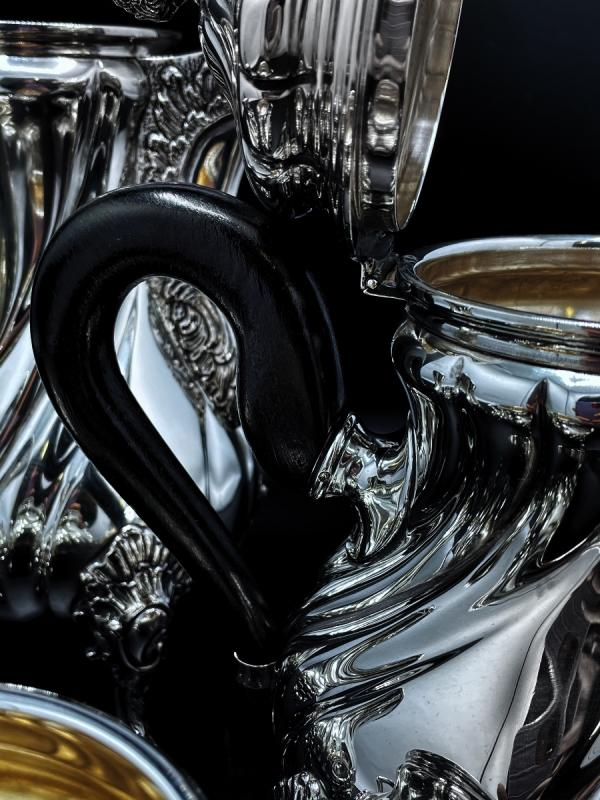 Tea And Coffee Service Sterling Silver 800/1000-photo-3