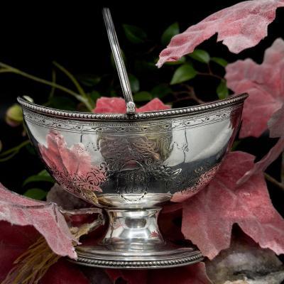 Panier Sucrier Dit «sugar Basket» En Argent