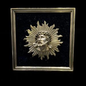 """""""radiant Christ"""" Solid Silver Head"""