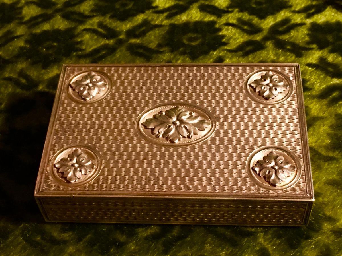 Boite Vermeil Style Louis XVI Fin XIXe-photo-2