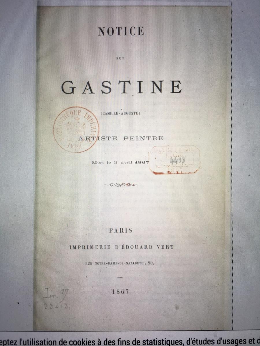 Dessin Encadré  XIXe Par Camille-Auguste Gastine-photo-4