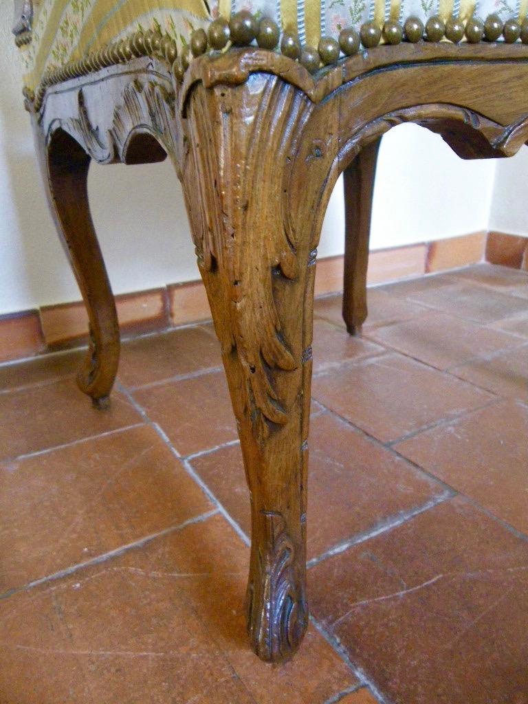 Large Chaise En Hêtre Fin époque Régence-photo-1