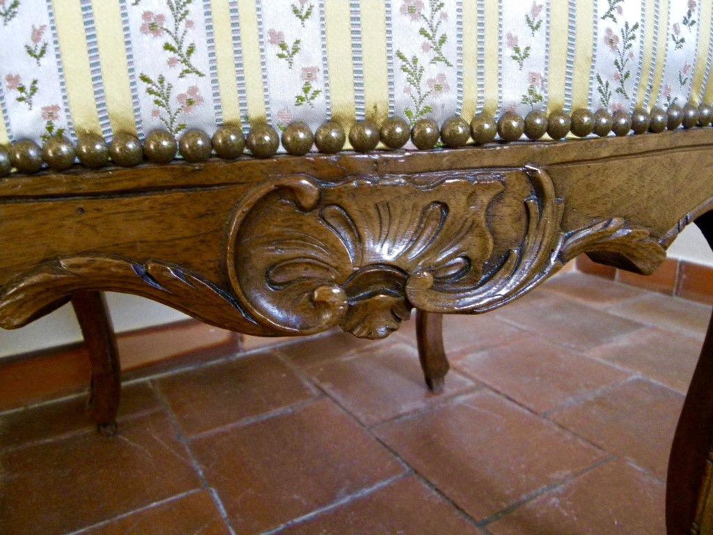 Large Chaise En Hêtre Fin époque Régence-photo-2