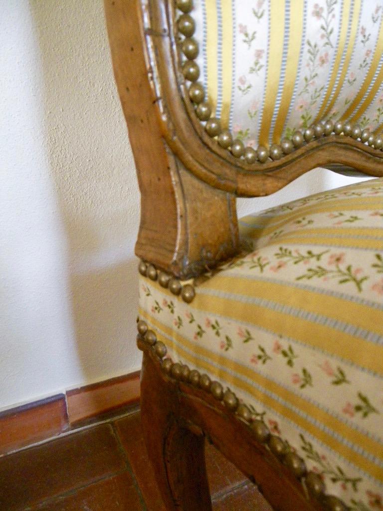 Large Chaise En Hêtre Fin époque Régence-photo-3