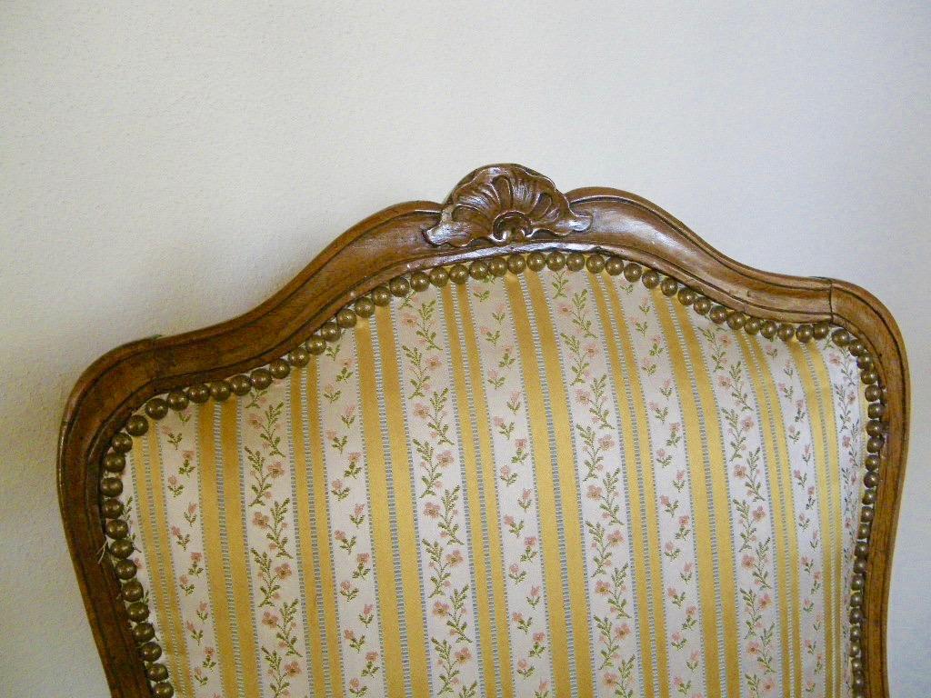 Large Chaise En Hêtre Fin époque Régence-photo-4