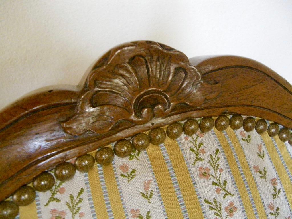 Large Chaise En Hêtre Fin époque Régence-photo-5