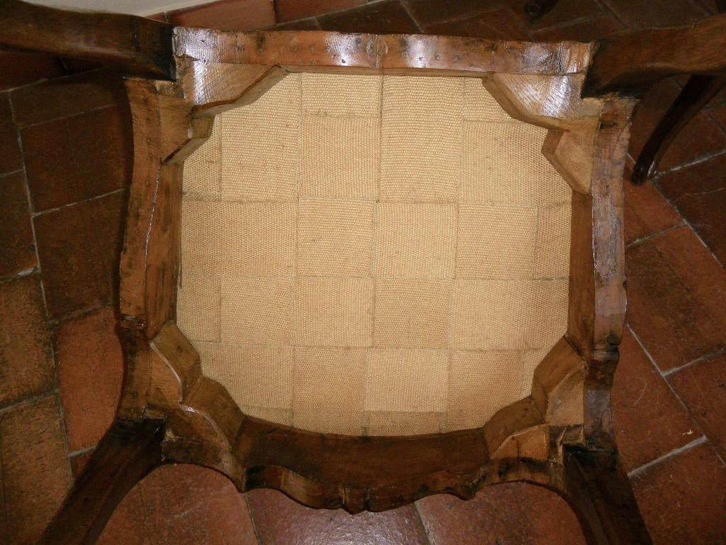 Large Chaise En Hêtre Fin époque Régence-photo-6