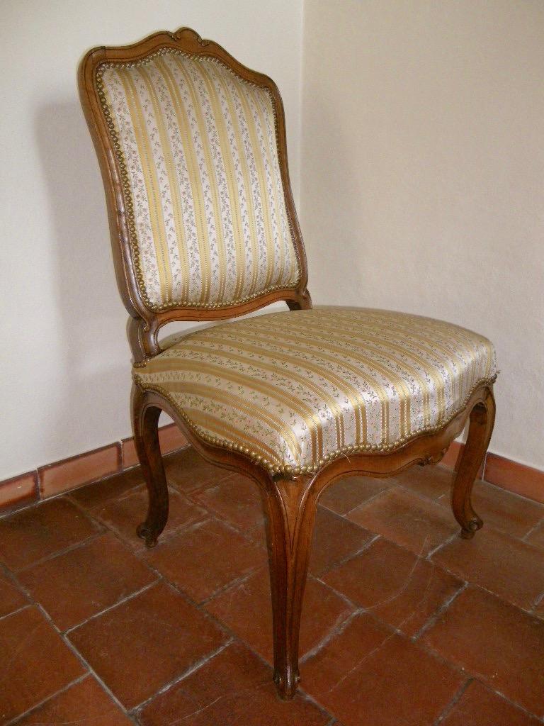 Large Chaise En Hêtre époque Louis XV