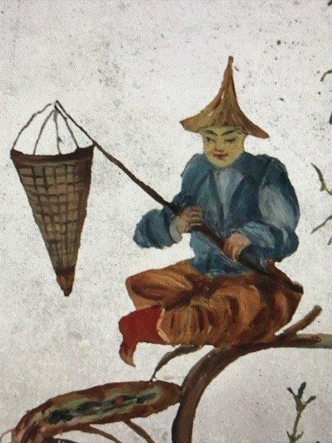 Fixé Sous-miroir Au Chinois Epoque Régence XVIIIe