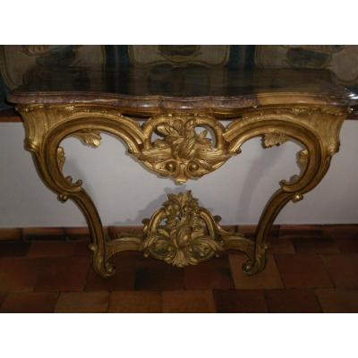 Console époque Louis XV Bois Doré XVIIIe