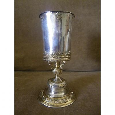 Baroque Cup In Silver And Vermeil