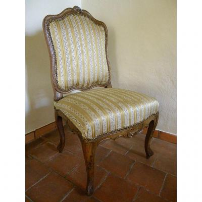Large Beechwood Chair Late Regence Period 18th