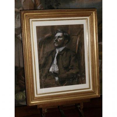 Framed Drawing Signed René Pinard (1883-1938)