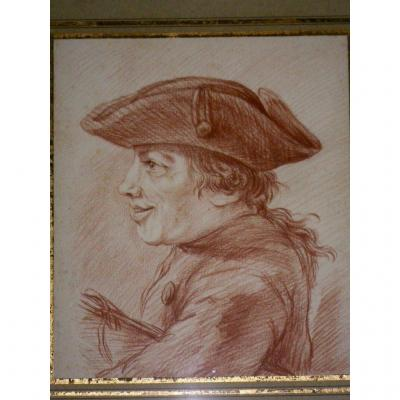 Drawing Red Chalk Framed 18th