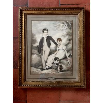 English Drawing Signed And Dated Henry Edridge 1810