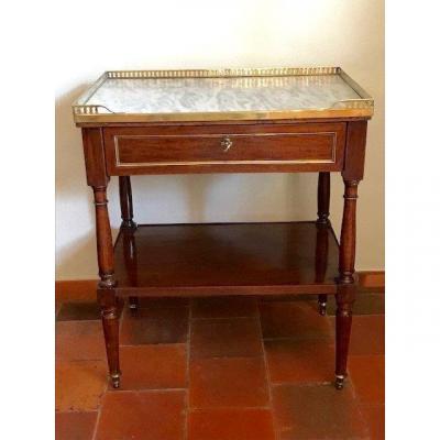 Louis XVI Period Mahogany Side Table Late 18th Century