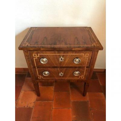 Small Louis XVI Walnut Chest Of Drawers End Of The 18th Century - Beginning Of The 19th Century