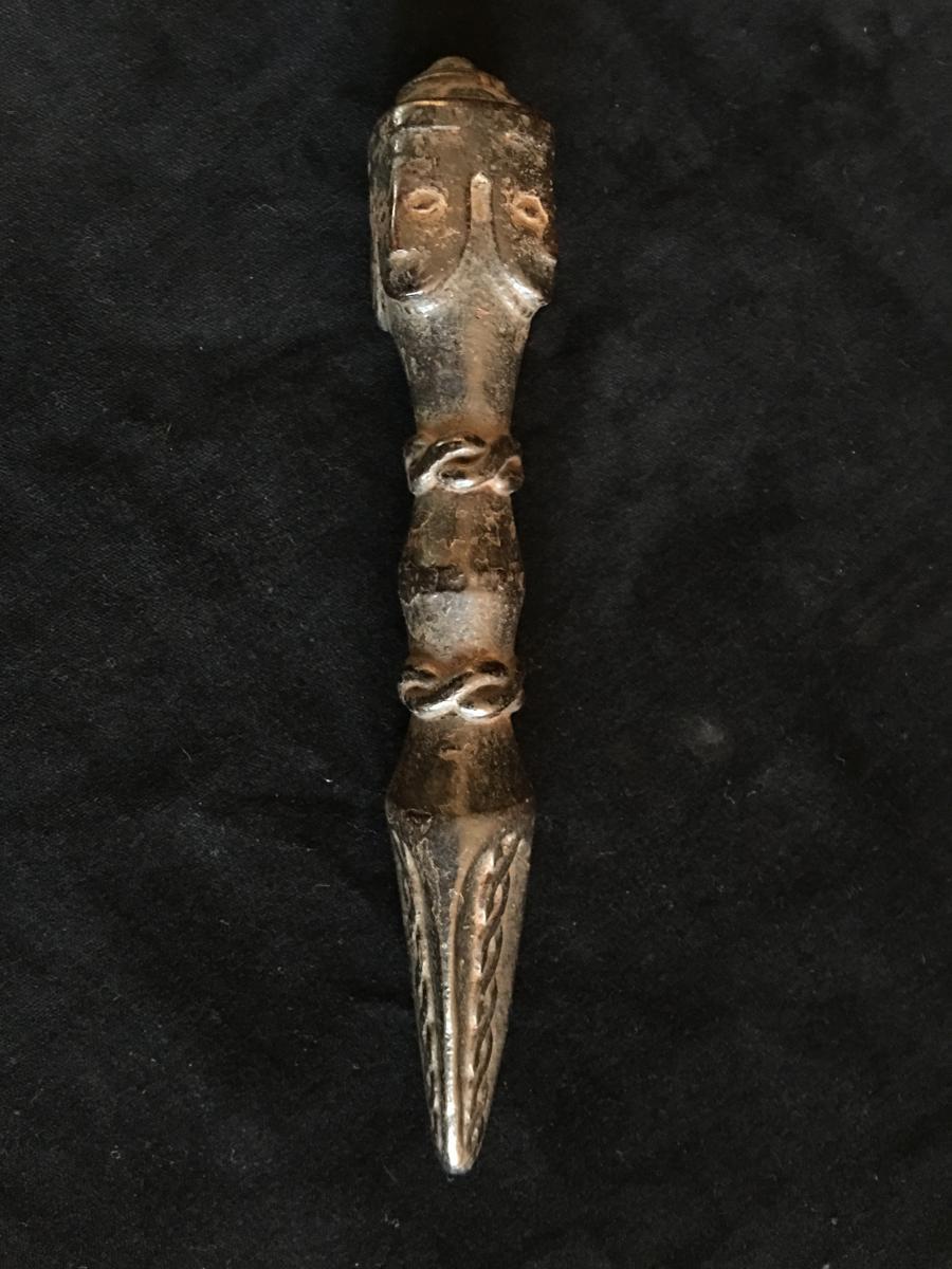 Phurbu, Ritual Dagger Of Shaman, Wood, 20.5 Cm, nepal