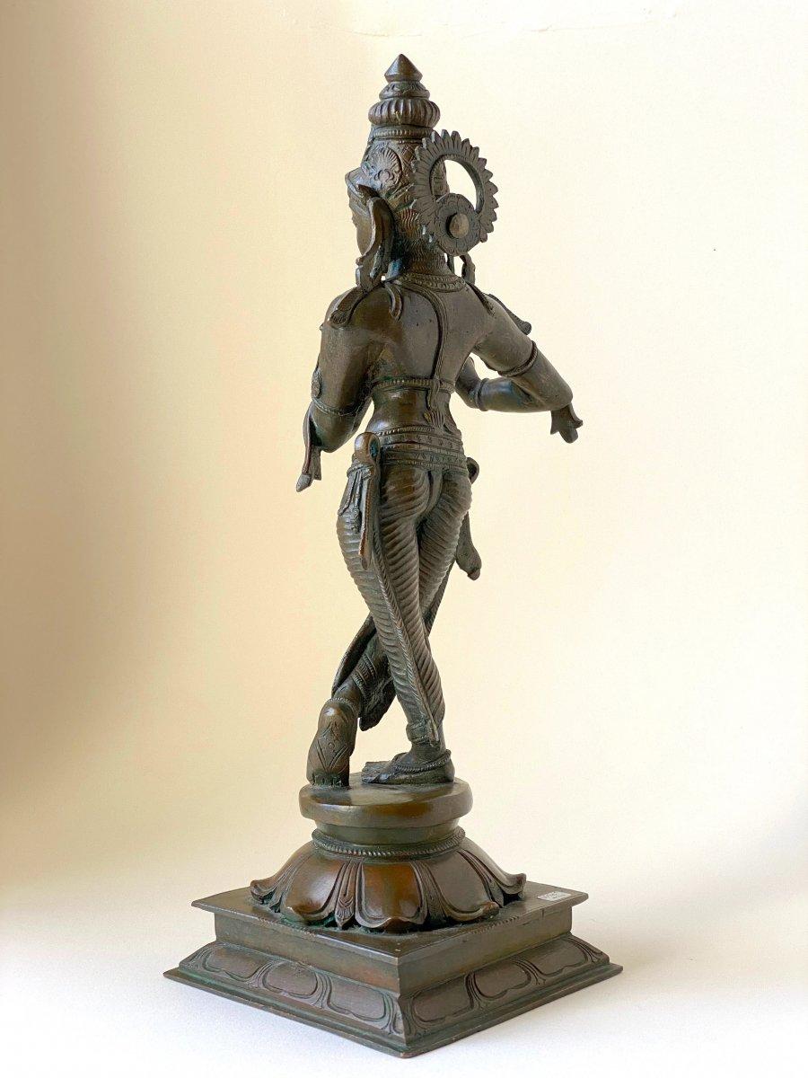 Krishna, bronze, Inde, 19ème-photo-3