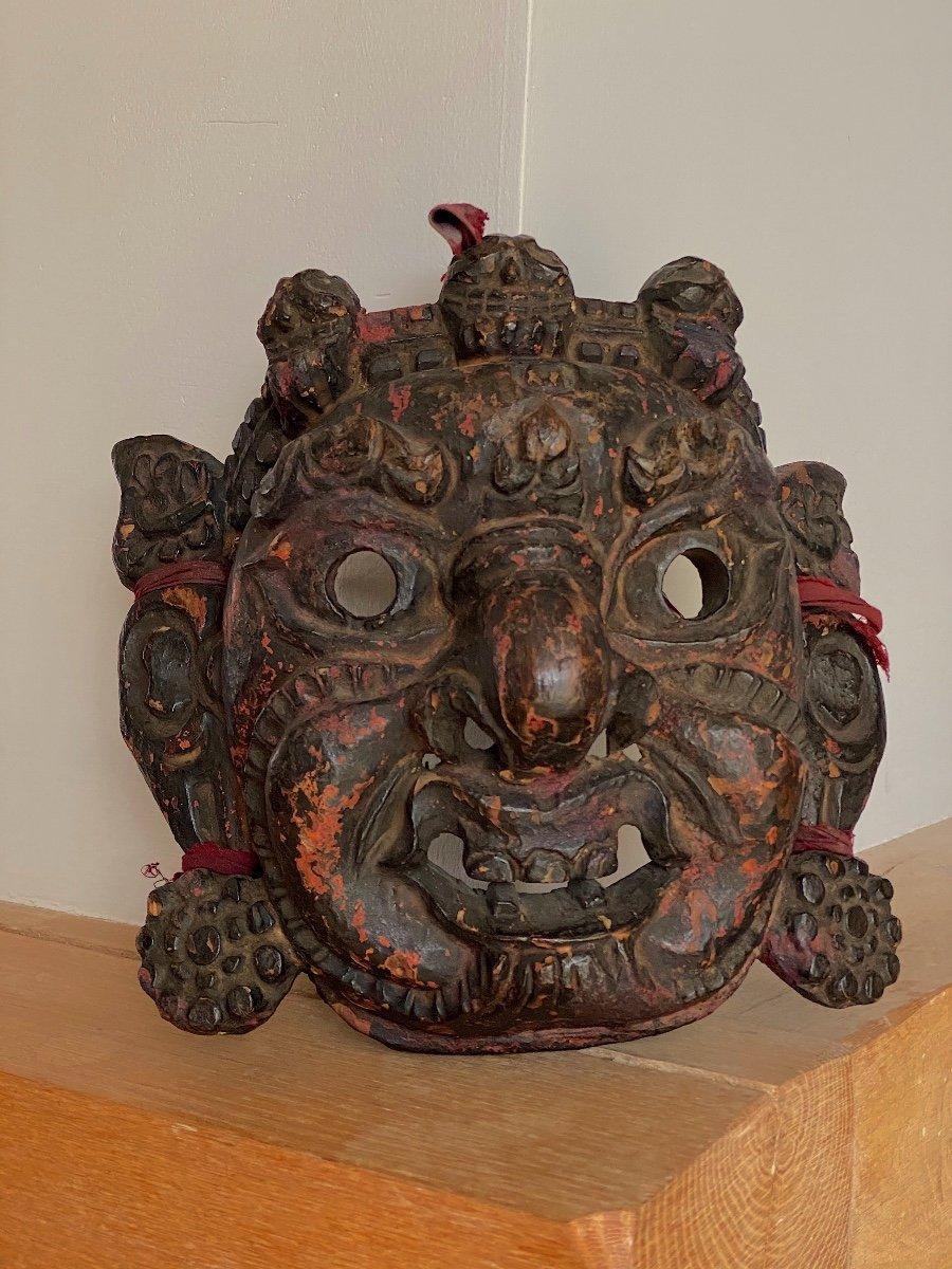 Masque, Mahâkâla, Tibet 18ème