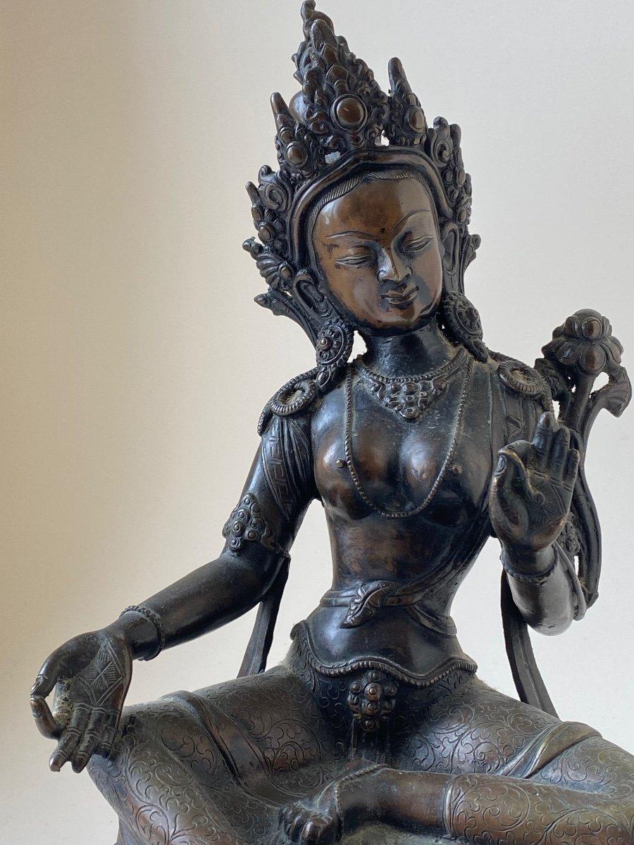 Tara, bronze, Népal
