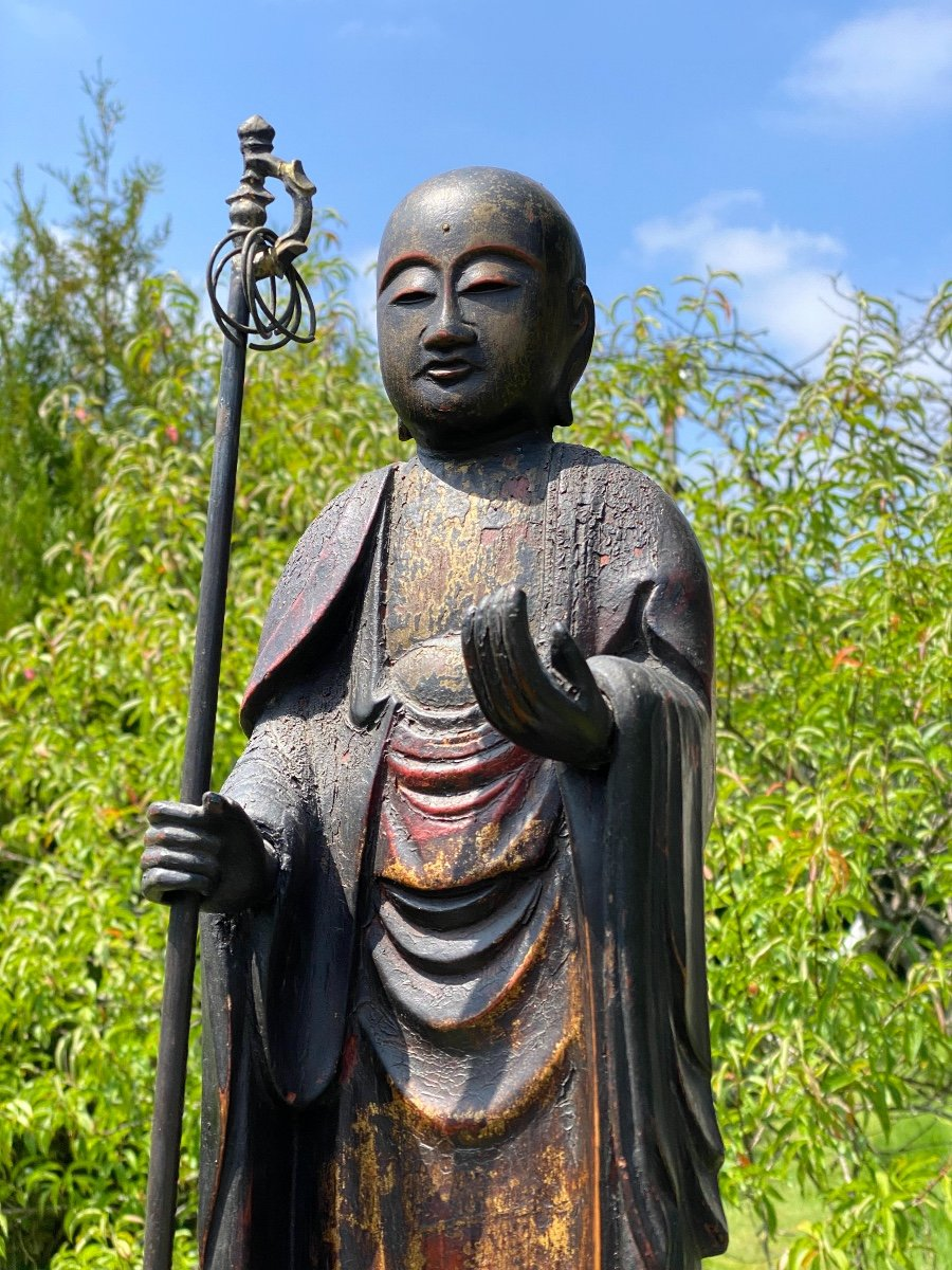 Bodhisattva Kshitigarbha, 65,5cm, Japon XIXème-photo-2