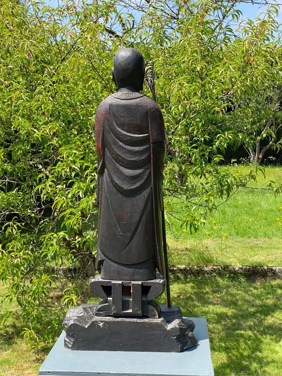 Bodhisattva Kshitigarbha, 65,5cm, Japon XIXème-photo-4