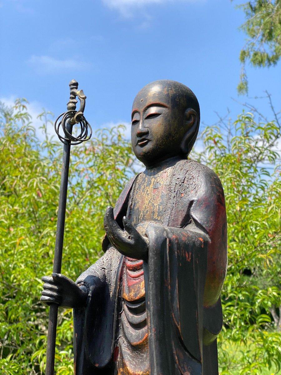 Bodhisattva Kshitigarbha, 65,5cm, Japon XIXème