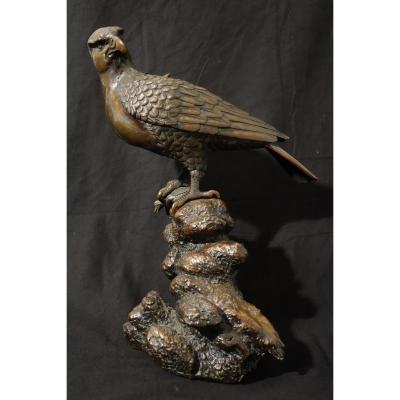 Aigle en Bronze,brûle parfum, période Meije Japon, XIX ème