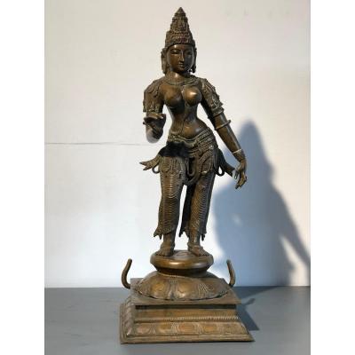 Parvati, bronze, 46cm, Inde, XIX-XXème