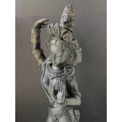 Danseuse, pierre, Népal, circa 19ème