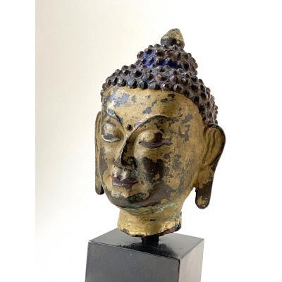 Bouddha, bronze, Tibet, 16-17 ème