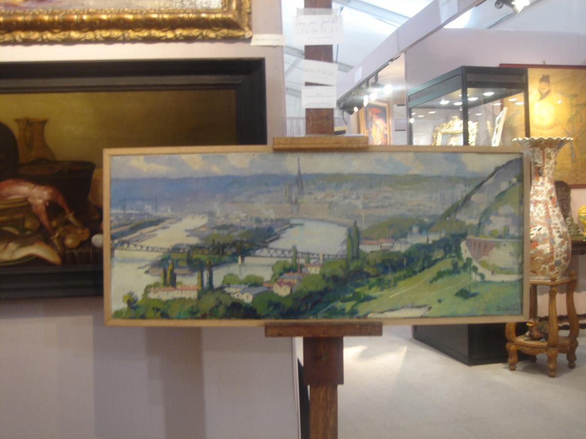 Vue Panoramique De Rouen De Louis Jacques Vigon ( Pseudo Dulac)
