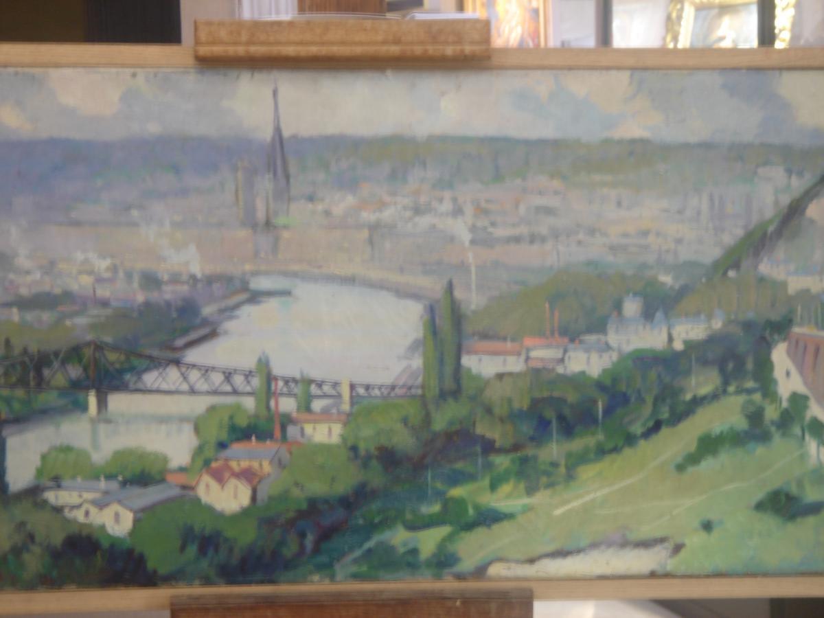 Vue Panoramique De Rouen De Louis Jacques Vigon ( Pseudo Dulac) -photo-2