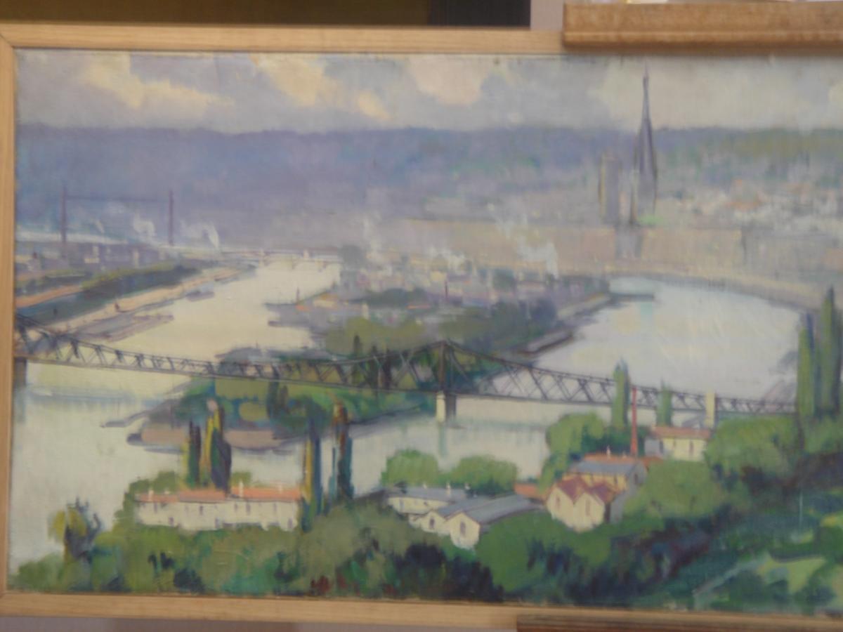 Vue Panoramique De Rouen De Louis Jacques Vigon ( Pseudo Dulac) -photo-3