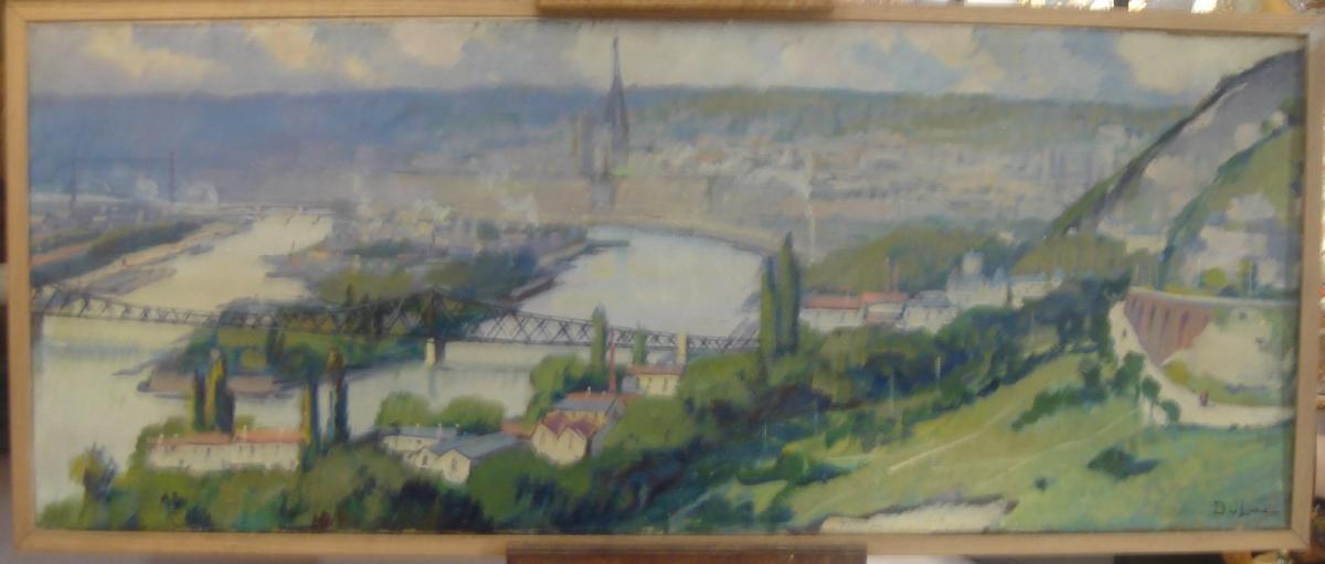 Vue Panoramique De Rouen De Louis Jacques Vigon ( Pseudo Dulac) -photo-1