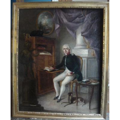 Portrait d'Un Homme De Qualité Dans Un Intérieur