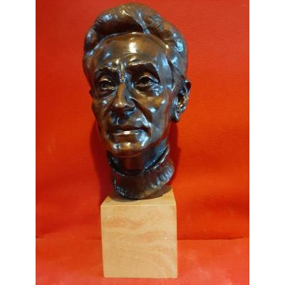 Head Of Man-bronze-kurt Kluge? Georges Rudier Founder.