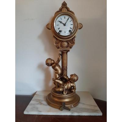 Pendule Aux Cherubins-mitchell Vance -1880.amerique