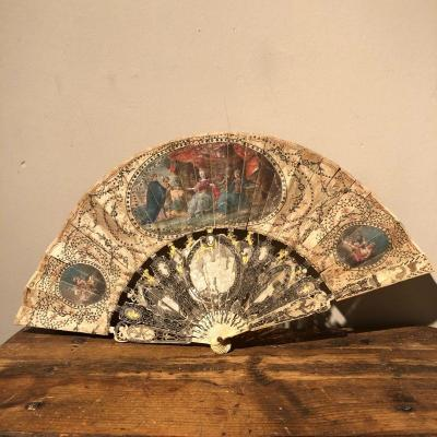 18th Century Hand Painted French Fan
