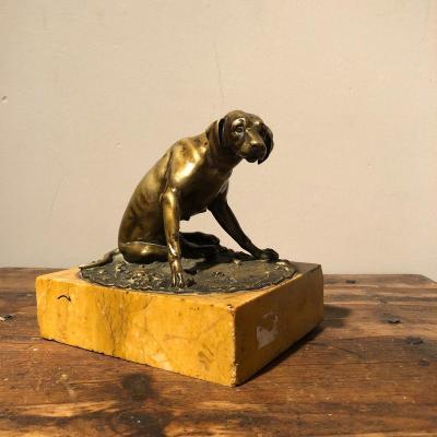 Figure Of Dog In Bronze XIXth Century
