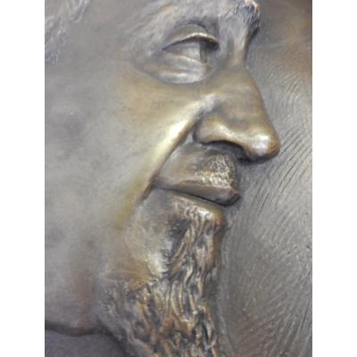 ¨Paire Bas Relief En Bronze