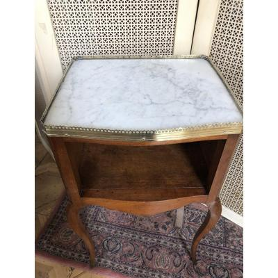 Louis XV Marquetry Nightstand