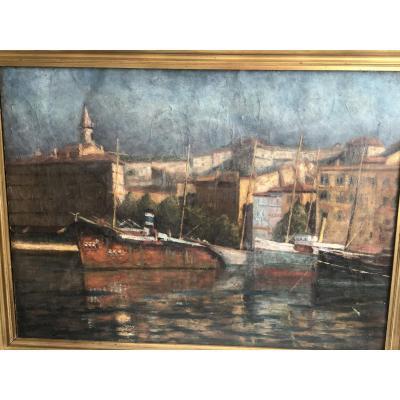 Marine XIXe Le Vieux Port Marseille