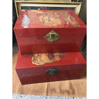 Chinese Lacquer Trunks